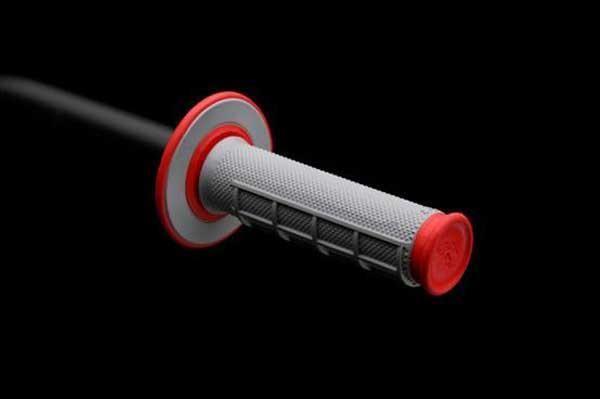 ΑΞΕΣΟΥΑΡ ΜΟΤΟΣΥΚΛΕΤΑΣ ΧΕΙΡΟΛΑΒΕΣ RENTHAL Χειρολαβές RENTHAL Dual Compound για χρήση MX/ENDURO κόκκινες-γκρί G156