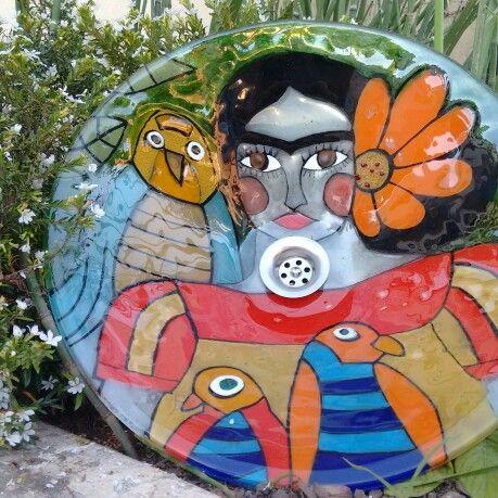 Bacha de 40 cms de diámetro, Frida Khalo