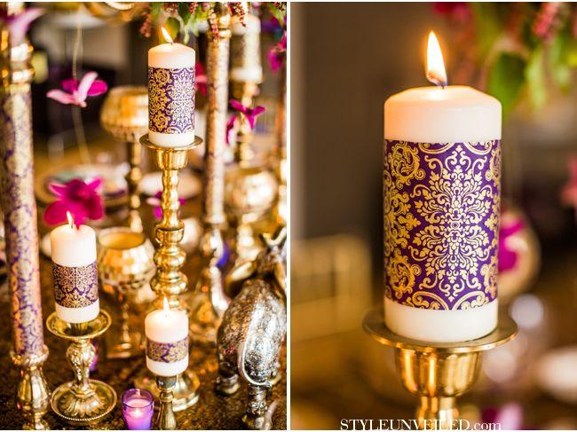 Eastern Indian Wedding Inspiration / Purple and Gold Wedding Inspiration / Cultural Wedding Ideas / Dina Chmut Photography / via StyleUnveiled.com