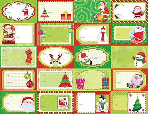 Christmas gift label stickers to from for easy name labeling and gift giving cute christmas set dont get left behind see this great product