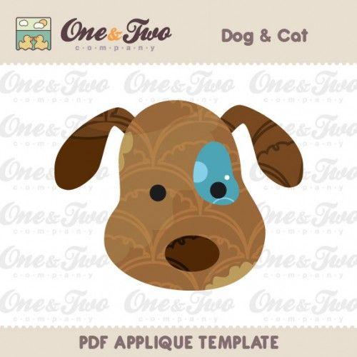 Free Applique Templates Patterns | Dog & Cat Applique Template