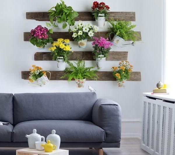 Mini jardín vertical con palet                                                                                                                                                                                 Más