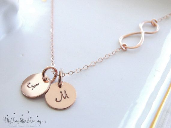 Infinity necklace with Initial Personalized by MyTinyStarShining