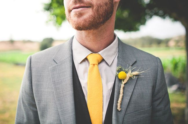 yellow grooms tie + billy ball bout