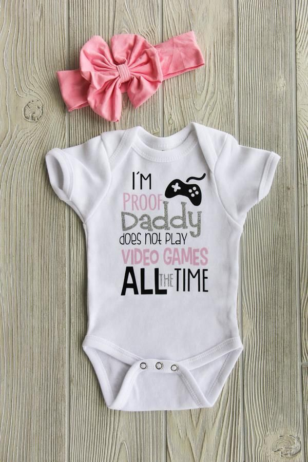 eb27b3f7a Video Games Baby Onesie   Gifts for Him   Baby games, Onesies, Baby