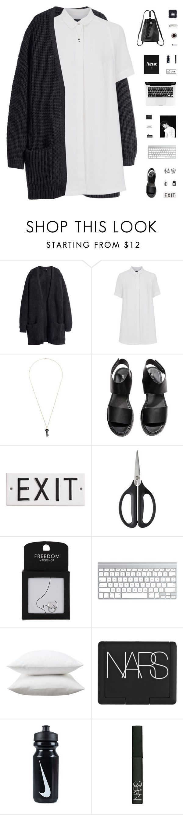 """MYSTERY LOVER"" by c-hristinep ❤ liked on Polyvore featuring moda, H&M, French Connection, Kristin Hanson, Rosanna, OXO, Topshop, Fieldcrest, NARS Cosmetics y NIKE"