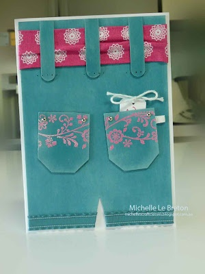 By Michelle Le Breton. Cute idea! Sentiment is on the little card in the pocket.