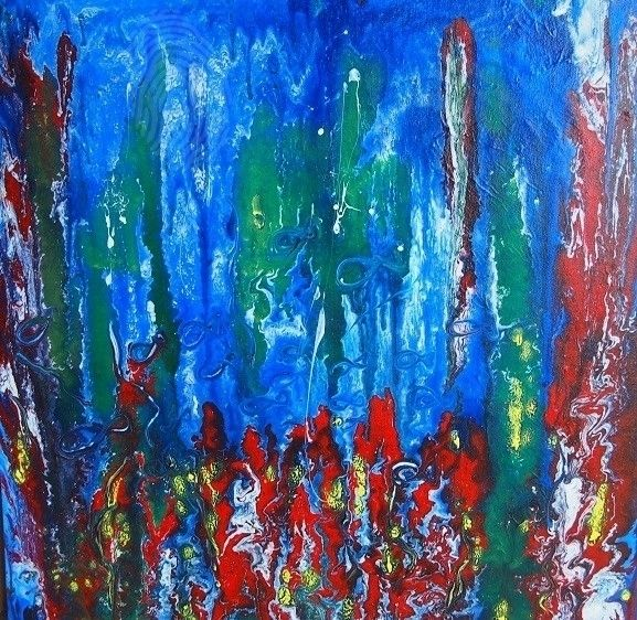 """""""Under the Sea"""" by Nicky Korneliussen. Paintings for Sale. Bluethumb - Online Art Gallery"""