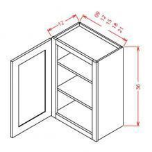 """36"""" High Wall Cabinets-Single Door with 2 shelves 9""""W X 36""""H X 12""""D 12""""W X 36""""H X 12""""D 15""""W X 36""""H X 12""""D18""""W X 36""""H X 12""""D 21""""W X 36""""H X 12""""D Hickory Kitchen Cabinets, White Shaker Kitchen Cabinets, Building Kitchen Cabinets, Rta Cabinets, Cherry Cabinets, Wall Cabinets, Cupboards, Glass Cabinet Doors, Kitchen Cabinet Doors"""