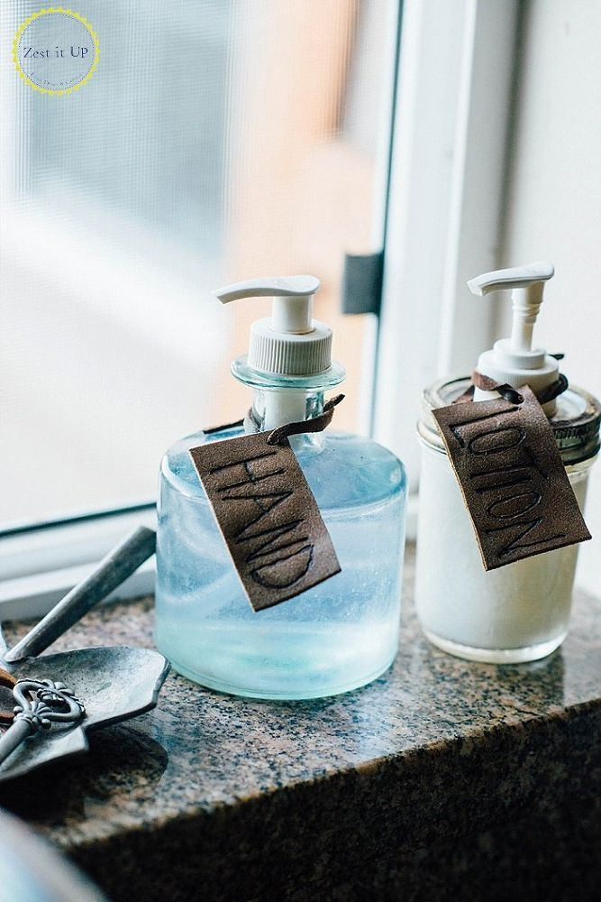 Leather Soap Tags
