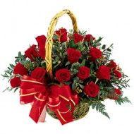 Rubinium- Cosul cu flori de la Cityflowers.ro Cos 19 trandafiri rosii-Comanda acum!