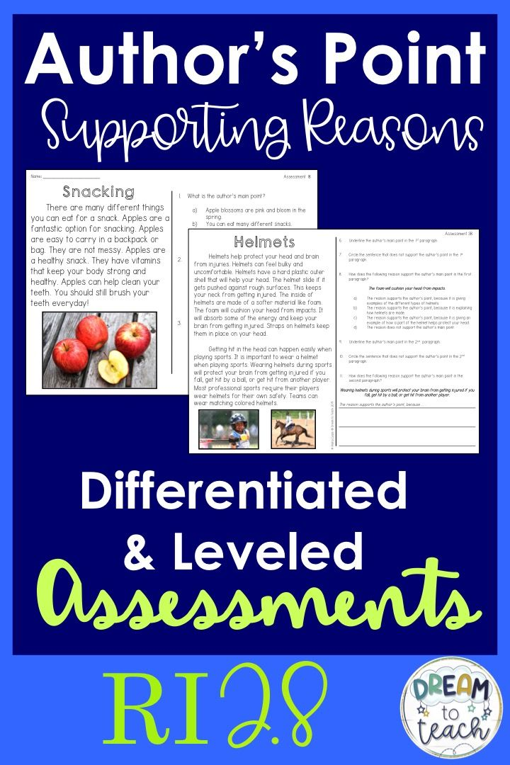 RI 2 8 Author S Point Reasons Assessments Elementary