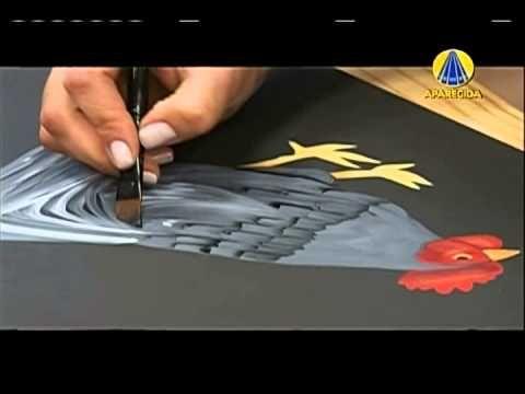 Tudo Artesanal   Pintura Gestual de Galinha  por Diná Rocha - 12 de Janeiro de 2013