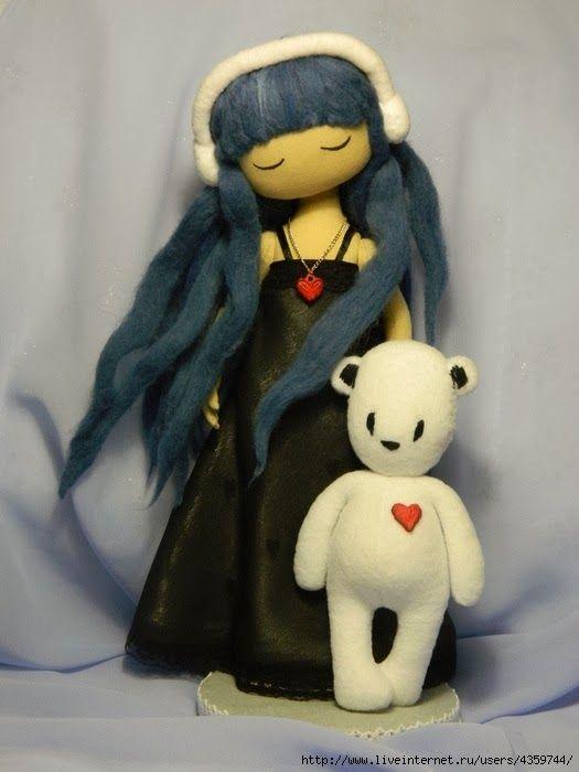 Mimin Dolls: Doll cabelo azul