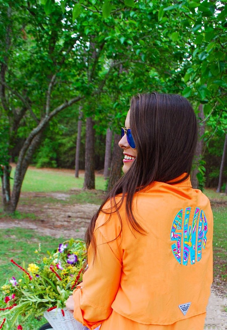 How great is this Columbia fishing shirt with Lilly Pulitzer monogram?! We are in love!