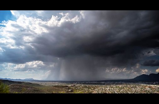Watch A Literal Rain Bomb Descend Upon Tucson, Arizona