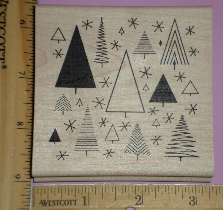 FUNKY CHRISTMAS PATTERN BACKGROUND rubber stamp JUDIKINS low shipping!