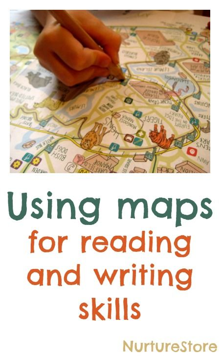 Great ideas for using maps for reading and writing skills. Cute!