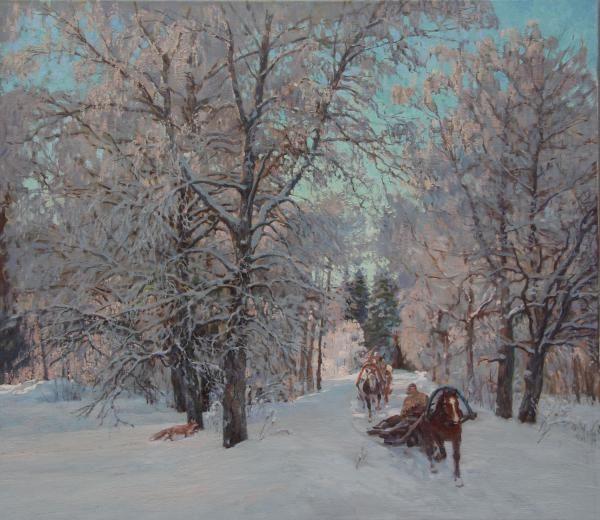 Winter road.2011.80х70cм.