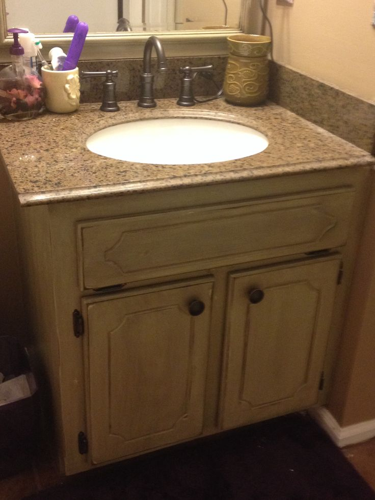 Distressed Bathroom Cabinet My House Projects Pinterest