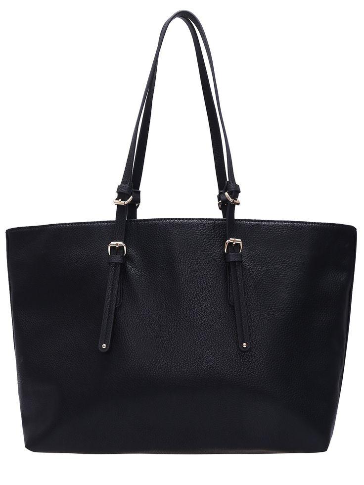Black PU Oversized Shoulder Bag 32.27