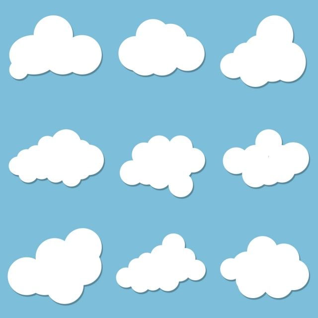 Clouds Cartoon Vector Simple Abstract Cloud Clouds Png Transparent Clipart Image And Psd File For Free Download Clouds Cartoon Clouds Diy Clouds