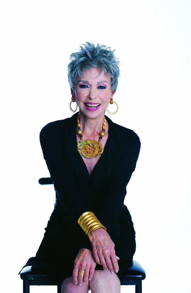 "Rita Moreno - way to rock the ""blue hair""! when i am her age, i hope to be as fab!"