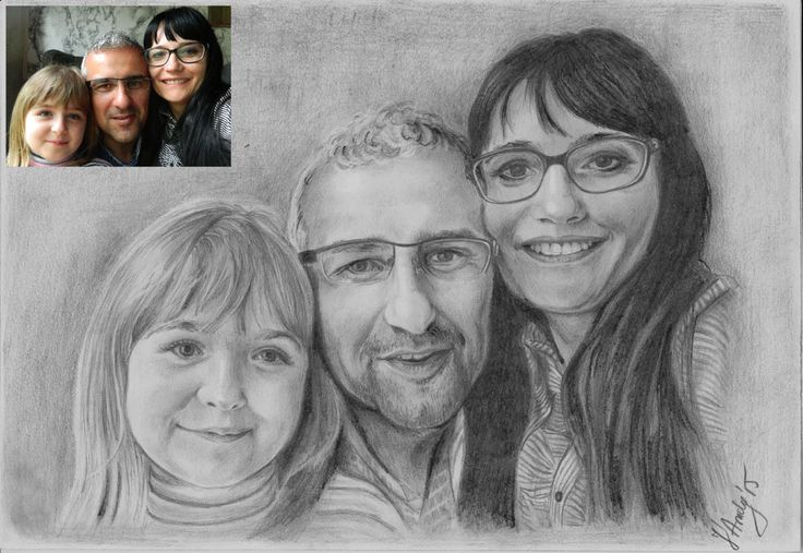 A4 Custom original drawing portrait from your photo #Realism