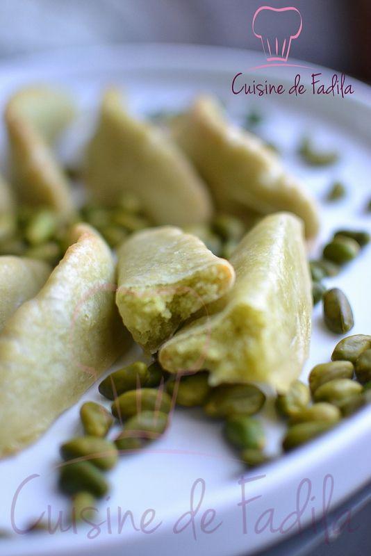 Corne de Gazelle Marocaine à la pâte de pistache (Kâab Ghzal )
