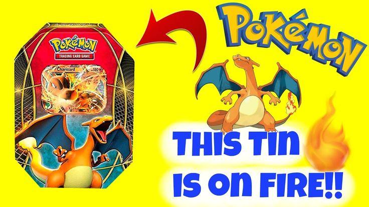 Pokemon Cards Charizard EX Power Trio tin Opening #pokemon #pokemoncards #pokemongame #charizard #pokemonvideo #pokemontin