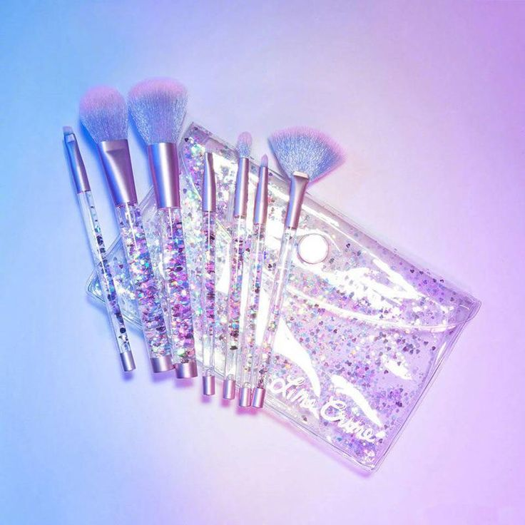 cute makeup brushes tumblr. glitter transparent plastic makeup brushes tools use coupon \u201citpin\u201d to get 10% off entire order - itgirlclothing.com | itgirl shop #kfashion #korean cute makeup brushes tumblr