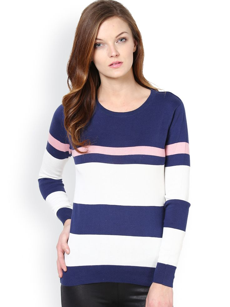 Women-Navy-White-Striped-Sweater