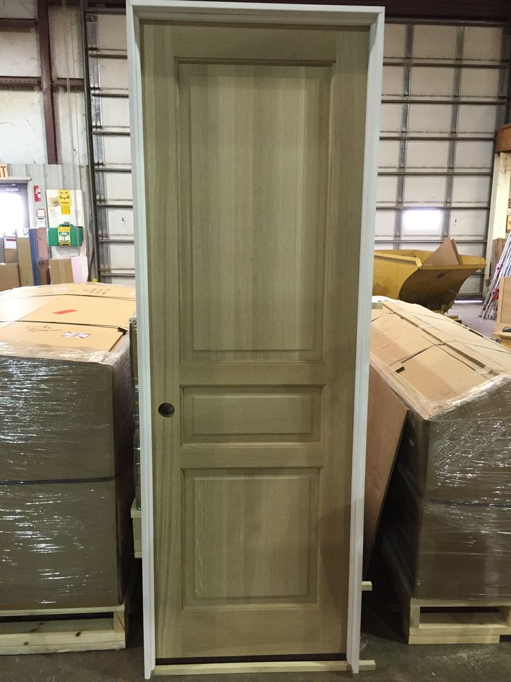 3 Panel Solid Quarter Sawn White Oak Interior Door Prehung On A Primed Jamb.