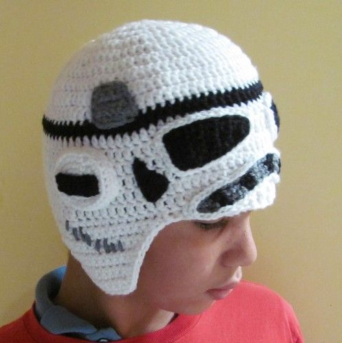 I have a similar pattern, minus earflaps. STORM TROOPER from Star Wars