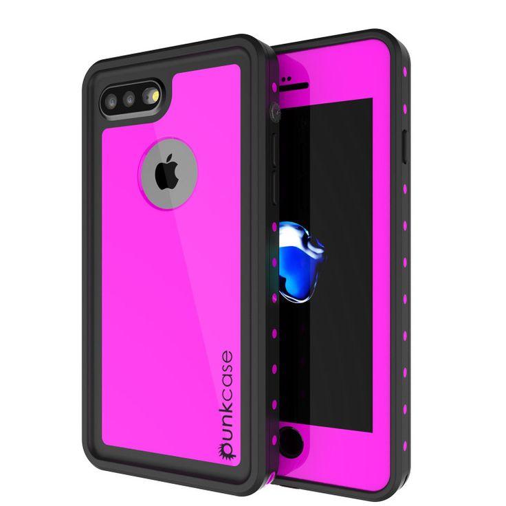 iPhone 7+ Plus Waterproof Case, Punkcase [Pink] [StudStar Series] [Slim Fit] [IP…