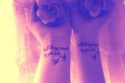 Sisters tattoo <3 too bad I don't have a sister...maybe a brother/sister tattoo