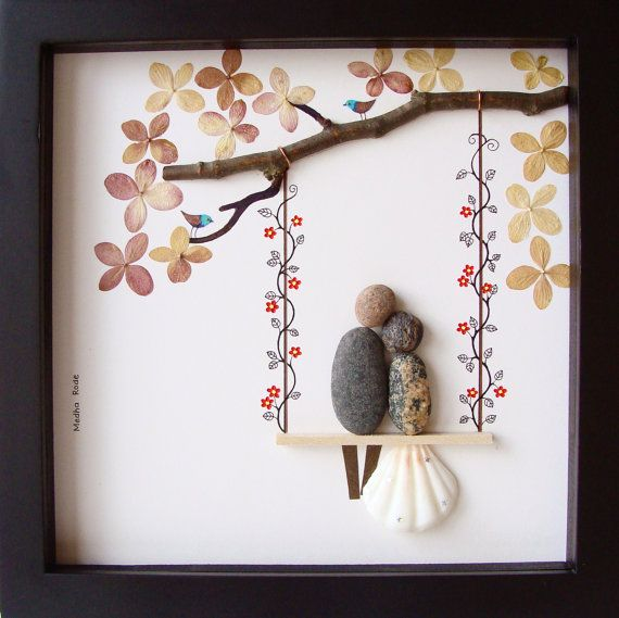 Unusual Wedding Day Gifts : Unique WEDDING Gift-Customized Wedding Gift-Pebble Art-Unique ...