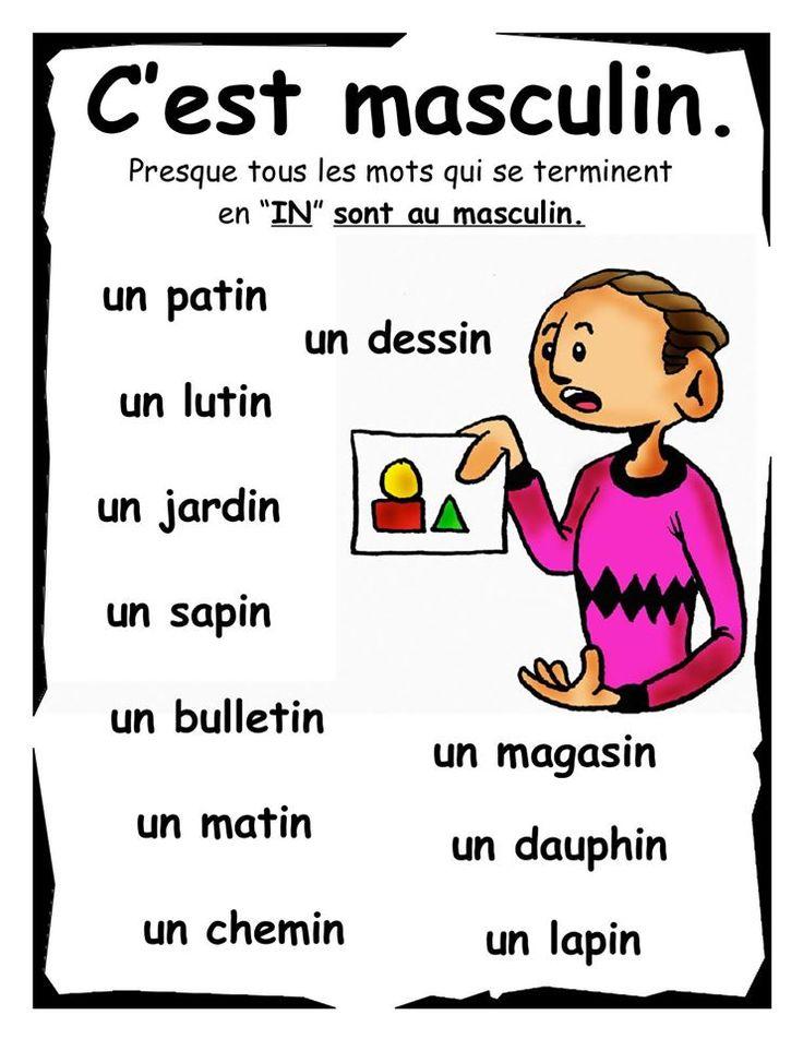 """Mots finissant par """"in"""""""