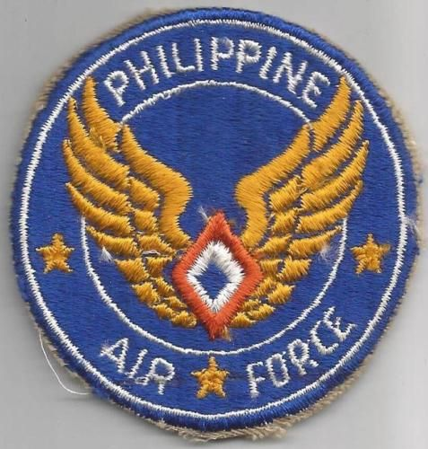 US AAF Philippine Air Force Patch 2nd Design Inv# TH955