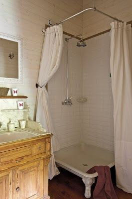 .French  Touch by Zaza Love the claw foot shower pan for people who don't like tubs (hubby)