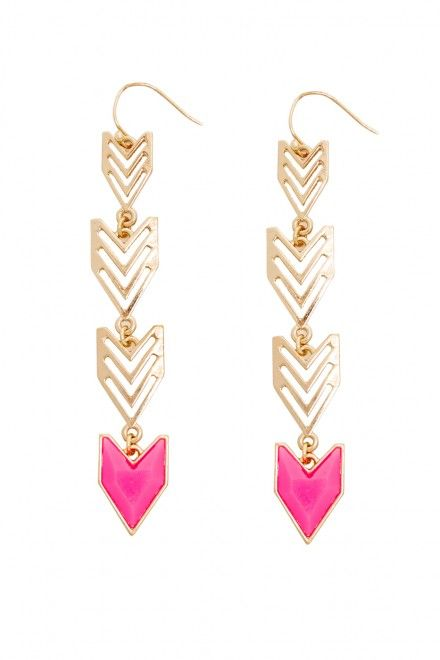 Plus Size Neon Aztec Drop Earrings
