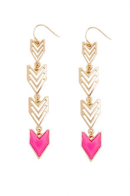 Plus Size Neon Aztec Drop Earrings
