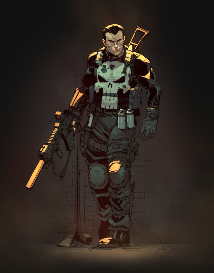 Punisher by yinfaowei | Illustration | 2D | CGSociety