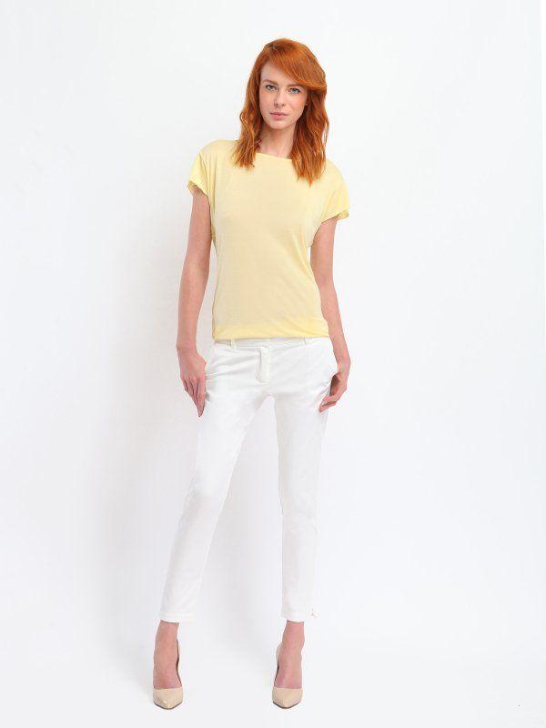 Cygaretki damskie, białe spodnie Top Secret