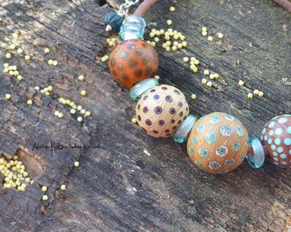 """Колье, бусы ручной работы. Ярмарка Мастеров - ручная работа Колье - бусы """"Dots"""". Handmade."""