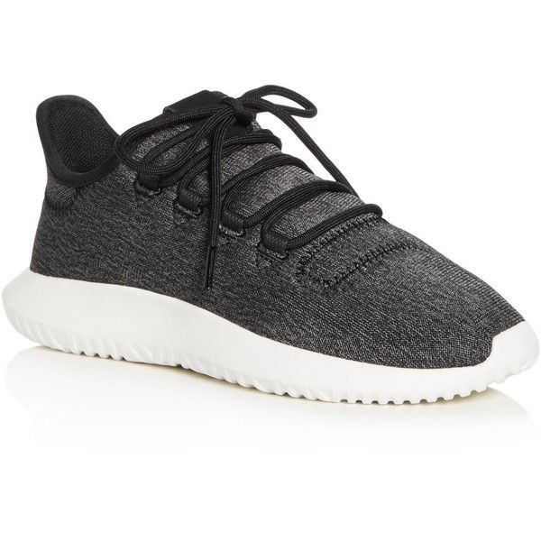 Adidas Women's Tubular Shadow Lace Up Sneakers (325 BRL) ❤ liked on Polyvore featuring shoes, sneakers, black, adidas trainers, black shoes, laced shoes, rubber sole shoes and kohl shoes