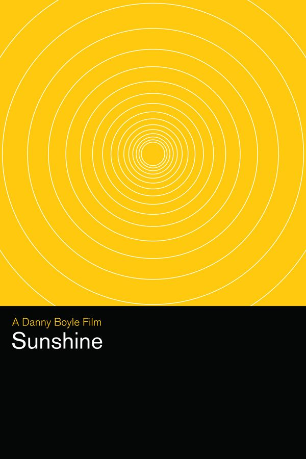 Sunshine (2007) ~ Minimal Movie Poster by Matthew Bond ~ Danny Boyle Series #amusementphile