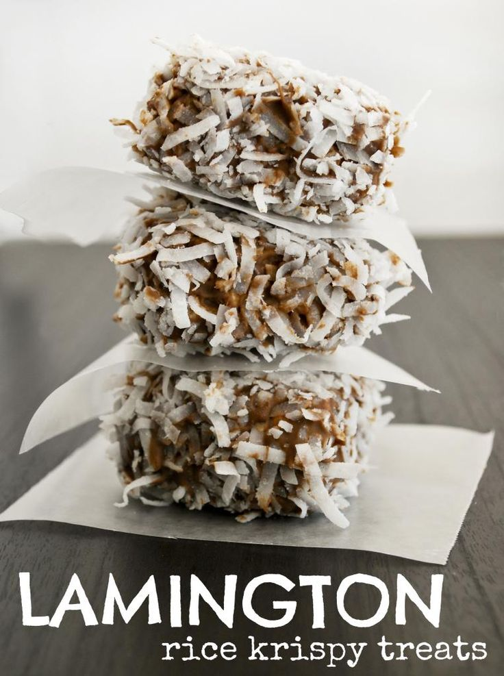 Lamington Rice Krispy Treats