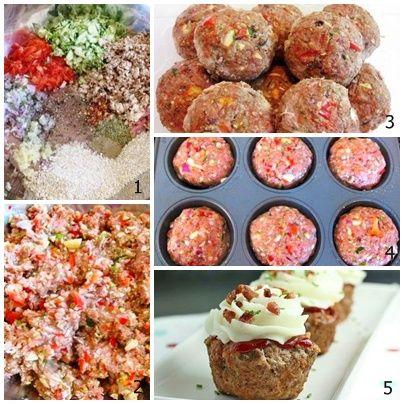 Mãos na massa para aprender a preparar Cupcake de Almôndega.