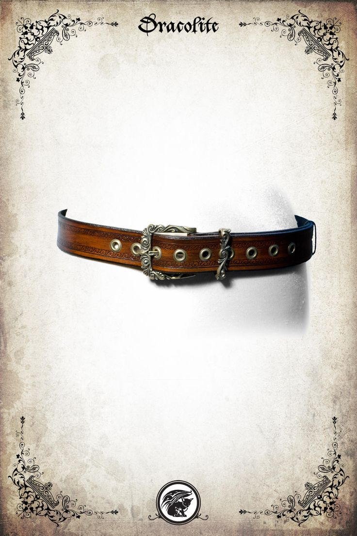 Elven Queen leather belt for LARP, action roleplaying and cosplay by Dracolite on Etsy